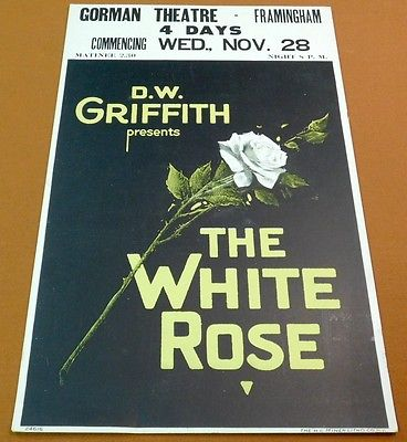 THE WHITE-ROSE-Vintage-1923-DW-Griffith-Silent